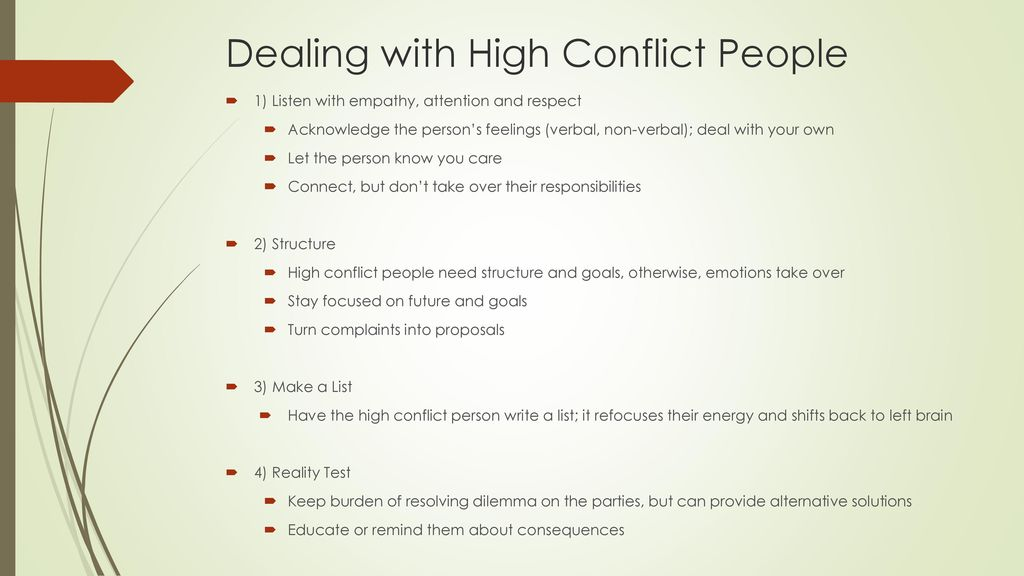 High Conflict Personalities - ppt download