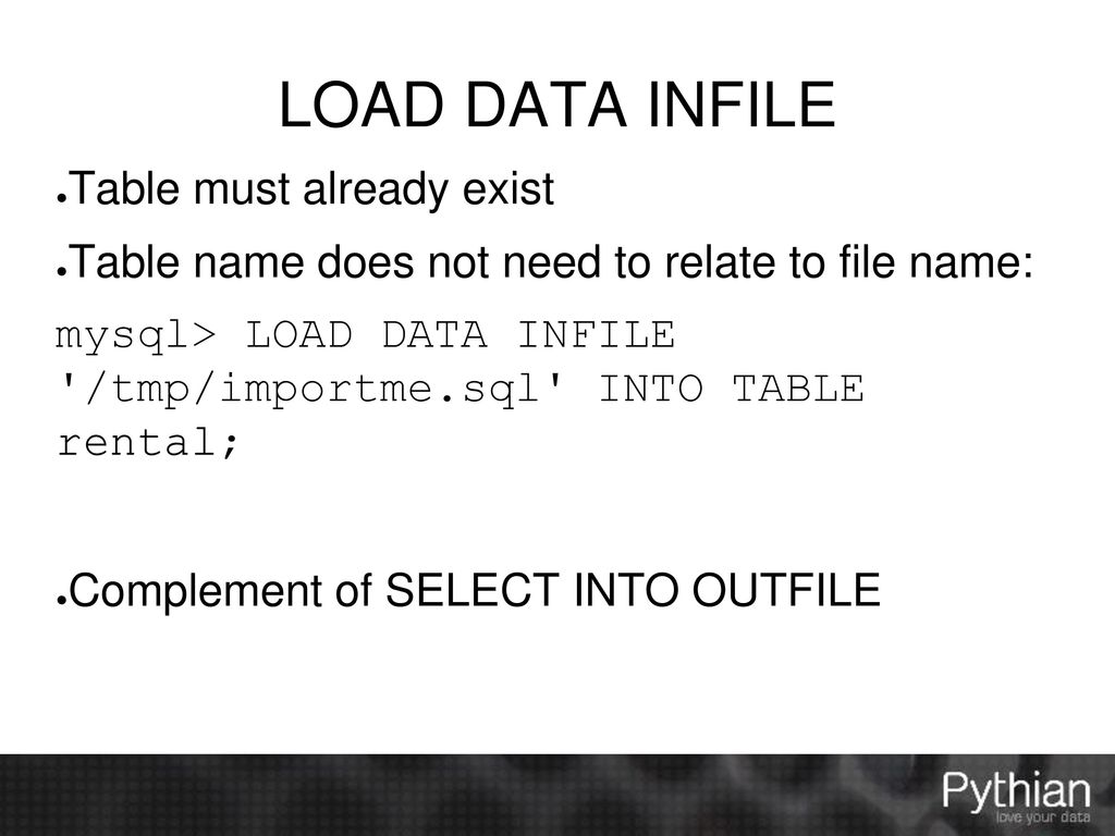 Importing and Exporting Data with MySQL - ppt download