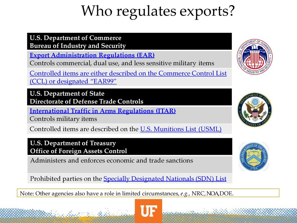 Export controls and hhp ppt download - Bureau of export administration ...