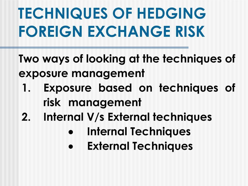 Foreign Exchange Risk Management Ppt