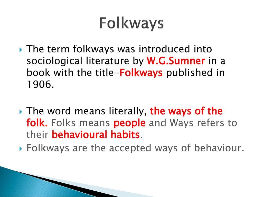 folkways definition sociology