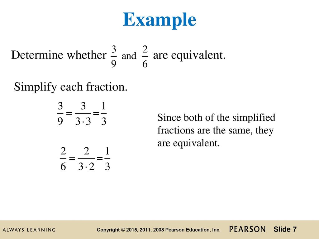 simplest form of a fraction - ppt download