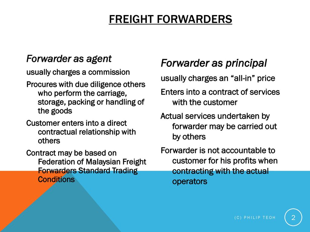 FREIGHT FORWARDING - Legal aspects - ppt download