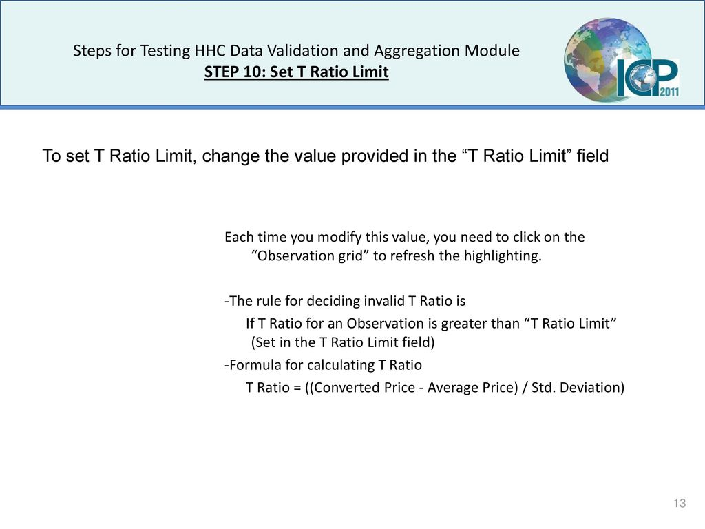 ICP Kit HHC Data Validation and Aggregation Module - ppt download