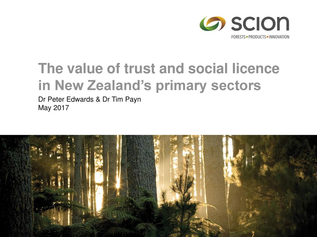 The value of trust and social licence in New Zealand's primary sectors