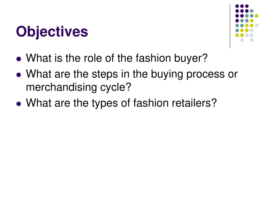 fashion buying cycle