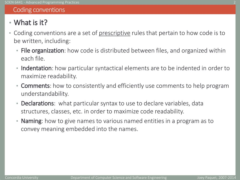 Advanced Programing practices - ppt download