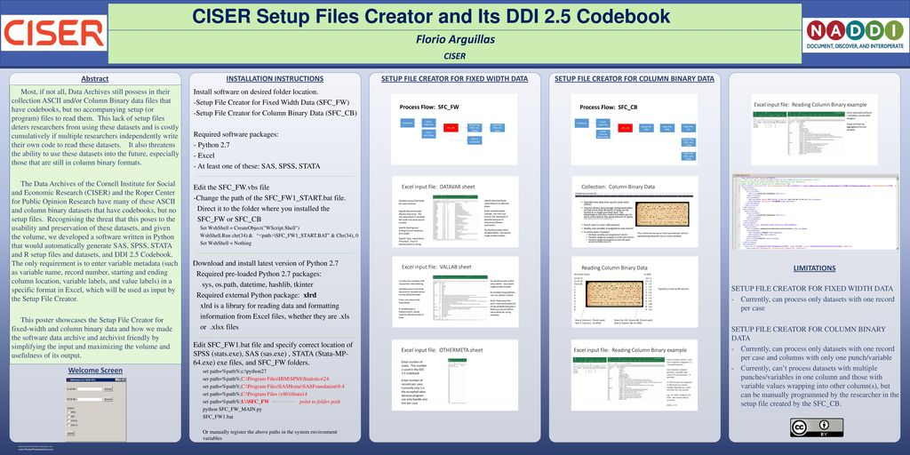CISER Setup Files Creator and Its DDI 2 5 Codebook - ppt download