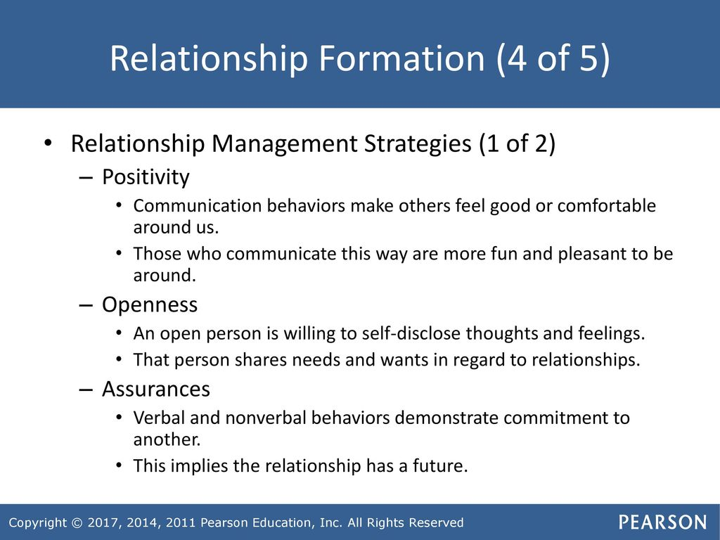 Chapter 14 Developing and Maintaining Relationships: From