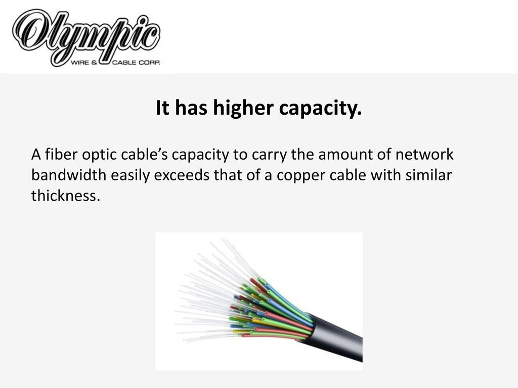 The Advantages Of Fiber Optic Cable Over Copper Wire Ppt Home Wiring 3 It