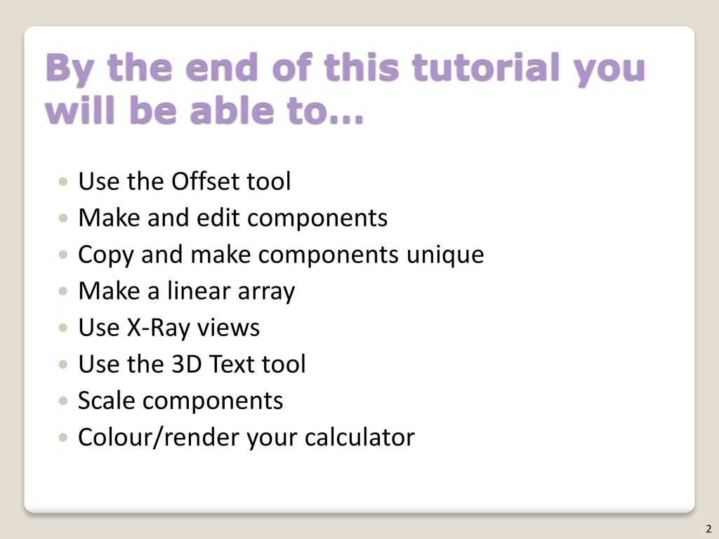 SketchUp Calculator Level of Difficulty Time - ppt download