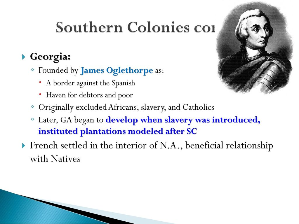 originally the georgia colony excluded