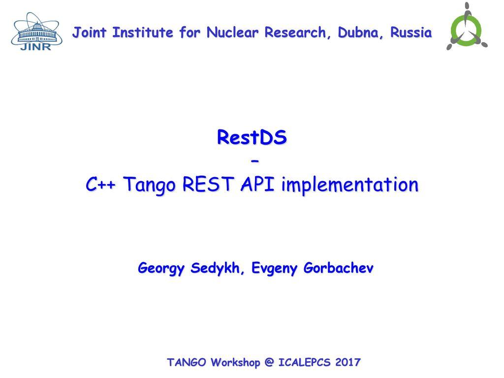 C++ Tango REST API implementation - ppt download