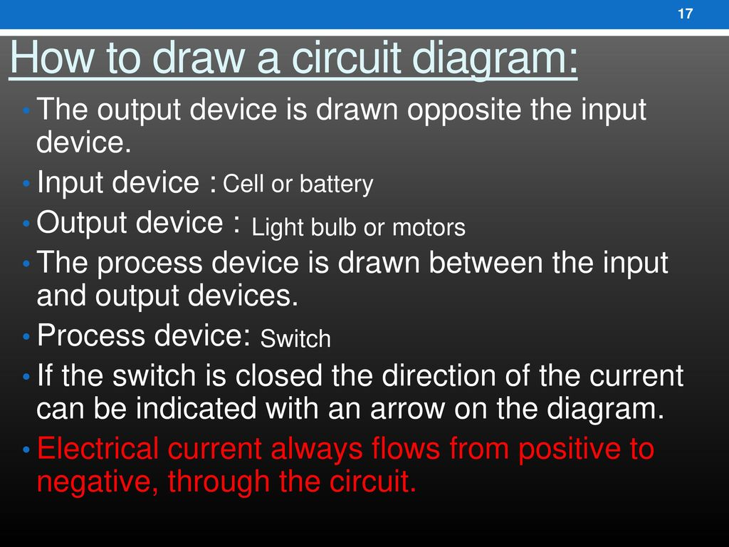 T3t1 Electrical Circuits Ppt Download Circuit Diagram Positive Negative How To Draw A