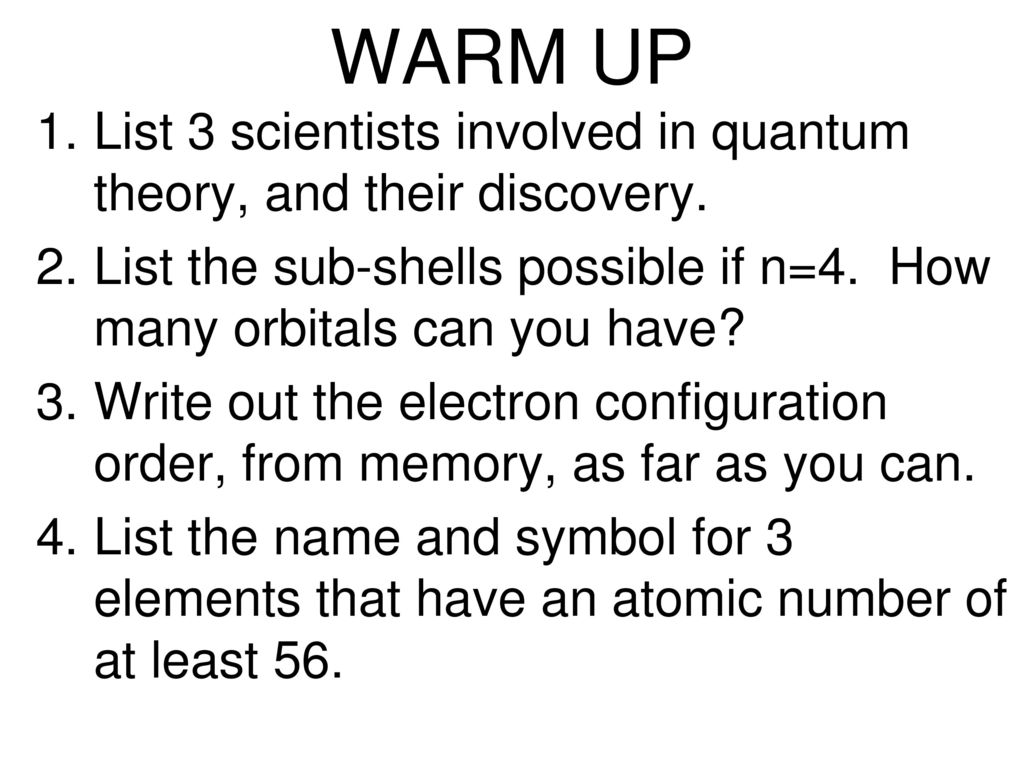Warm Up Nothing Is Particularly Hard If You Break It Into Small