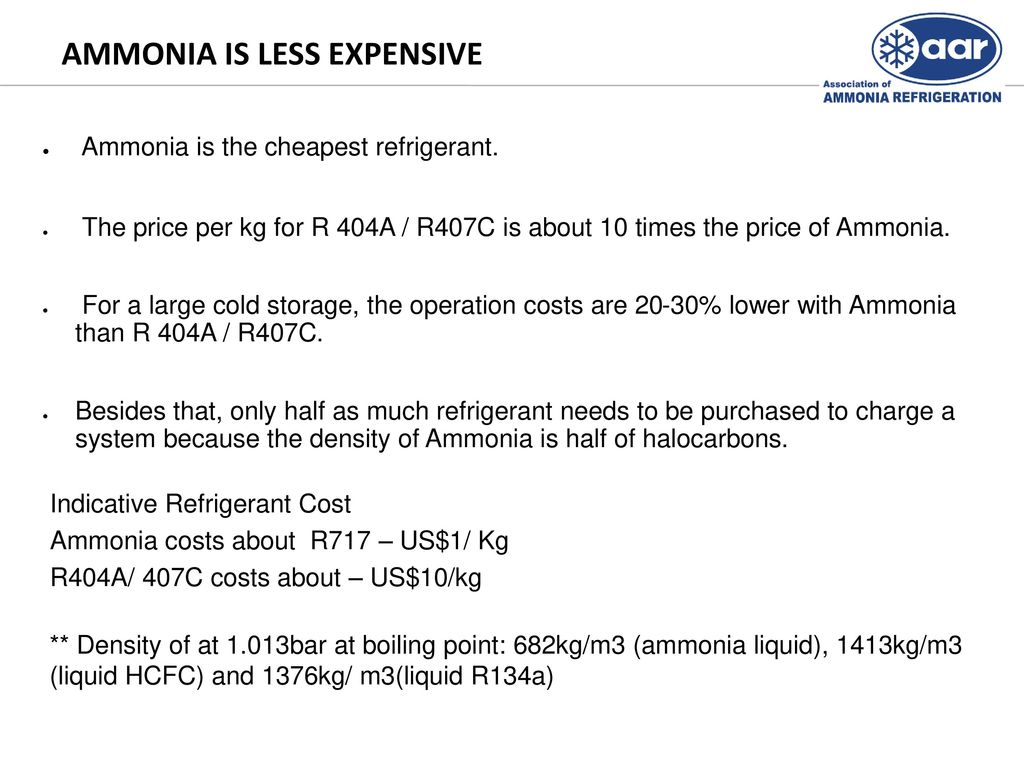 Ammonia - Natural Choice Refrigerant - ppt download