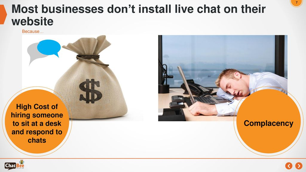 Most businesses don't install live chat on their website