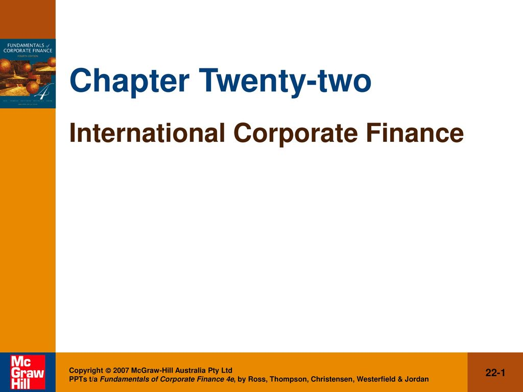 chapter 4 of corporate finance Corporate finance: theory and practice  chapter 3: risk and return chapter 4:  most corporate investments grant managers a great deal of flexibility such as.