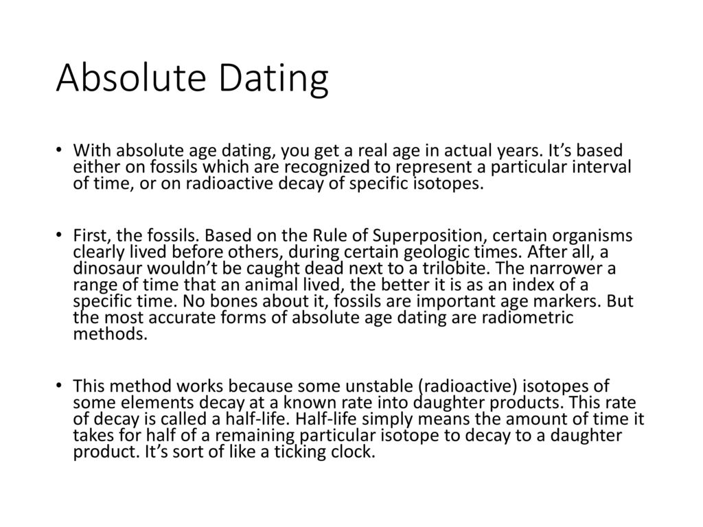 most accurate method dating fossils