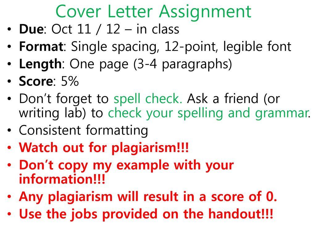 Cover letter ell ppt download 24 cover letter assignment altavistaventures Images