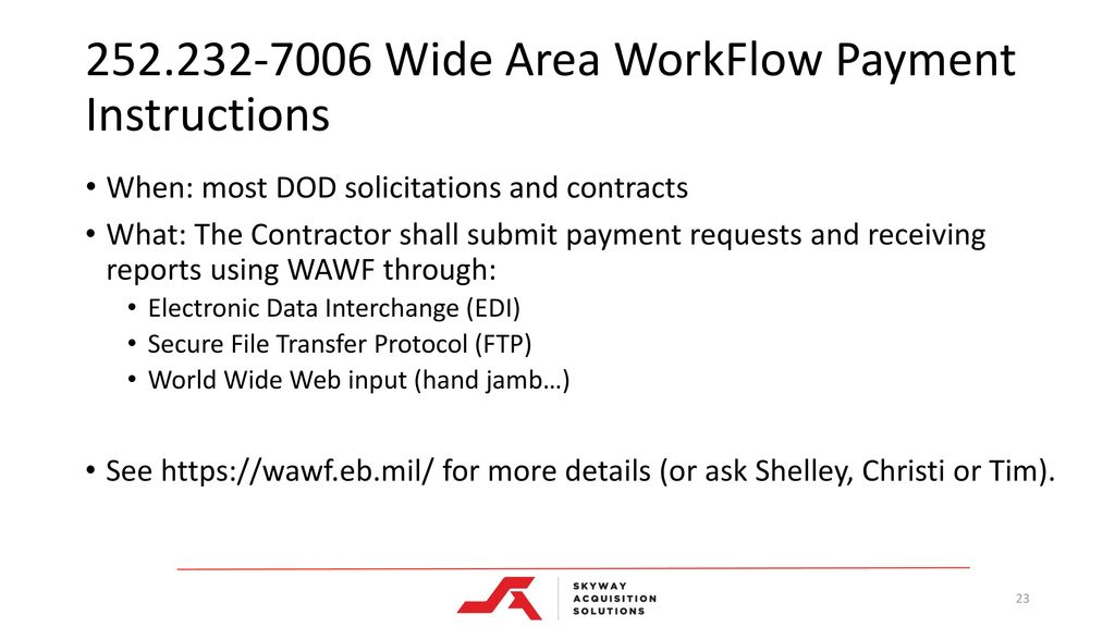 Attachment a wide area workflow receiving reports wawf.