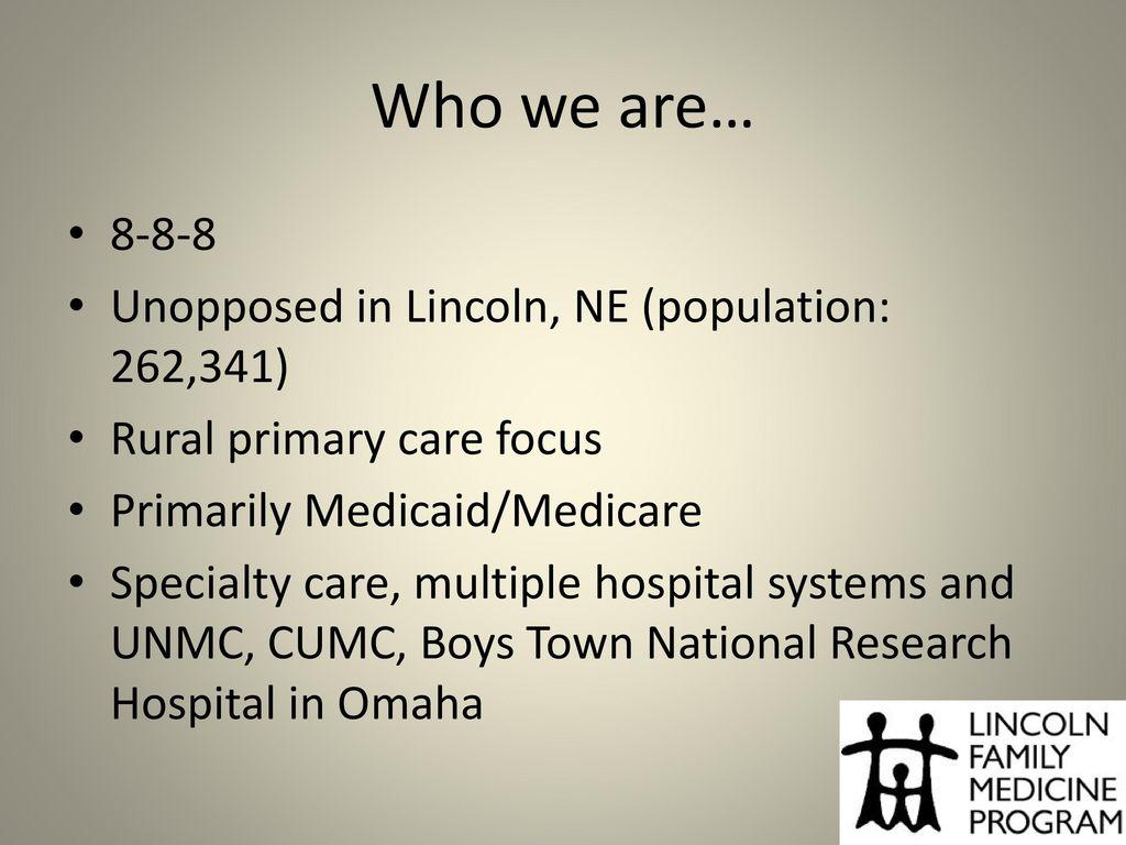 Corey D Smith Psyd Lincoln Family Medicine Program Ppt Download