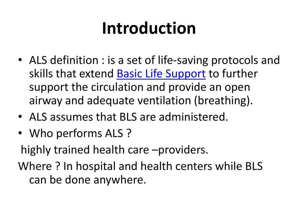 advanced life support. - ppt download