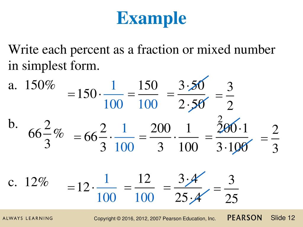 simplest form percent as a fraction  13 Chapter Chapter 13 Percent. - ppt download
