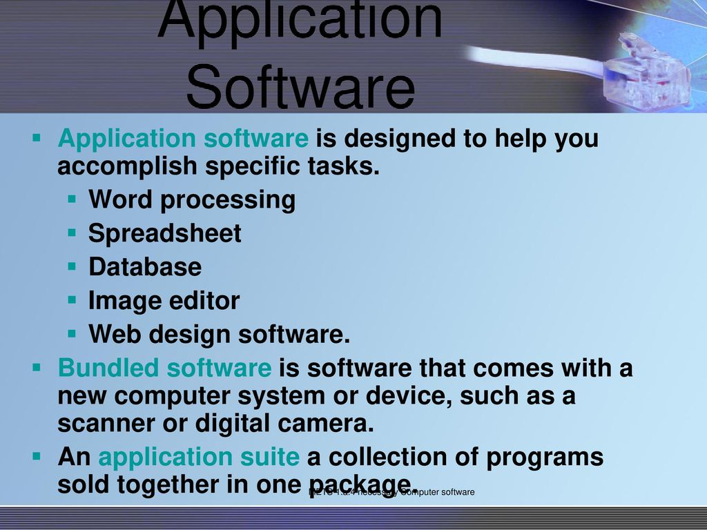 Mets 1 A 4 Necessary Computer Software Ppt Download