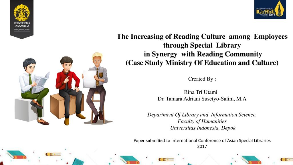 The Increasing of Reading Culture among Employees through Special