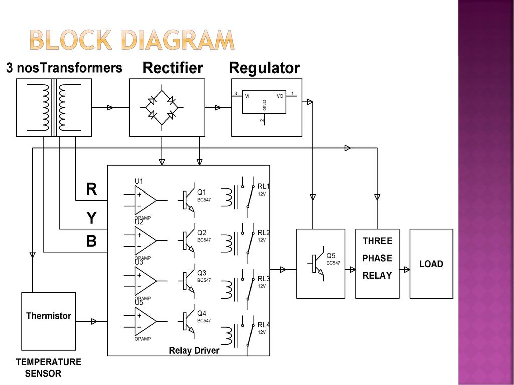 Induction Motor Protection For Single Phasing Overvoltage And Over Block Diagram Of Transformer 4