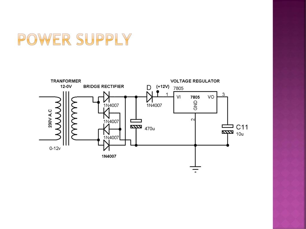 Induction Motor Protection For Single Phasing Overvoltage And Over 5v Regulated Power Supply With Schematic 5