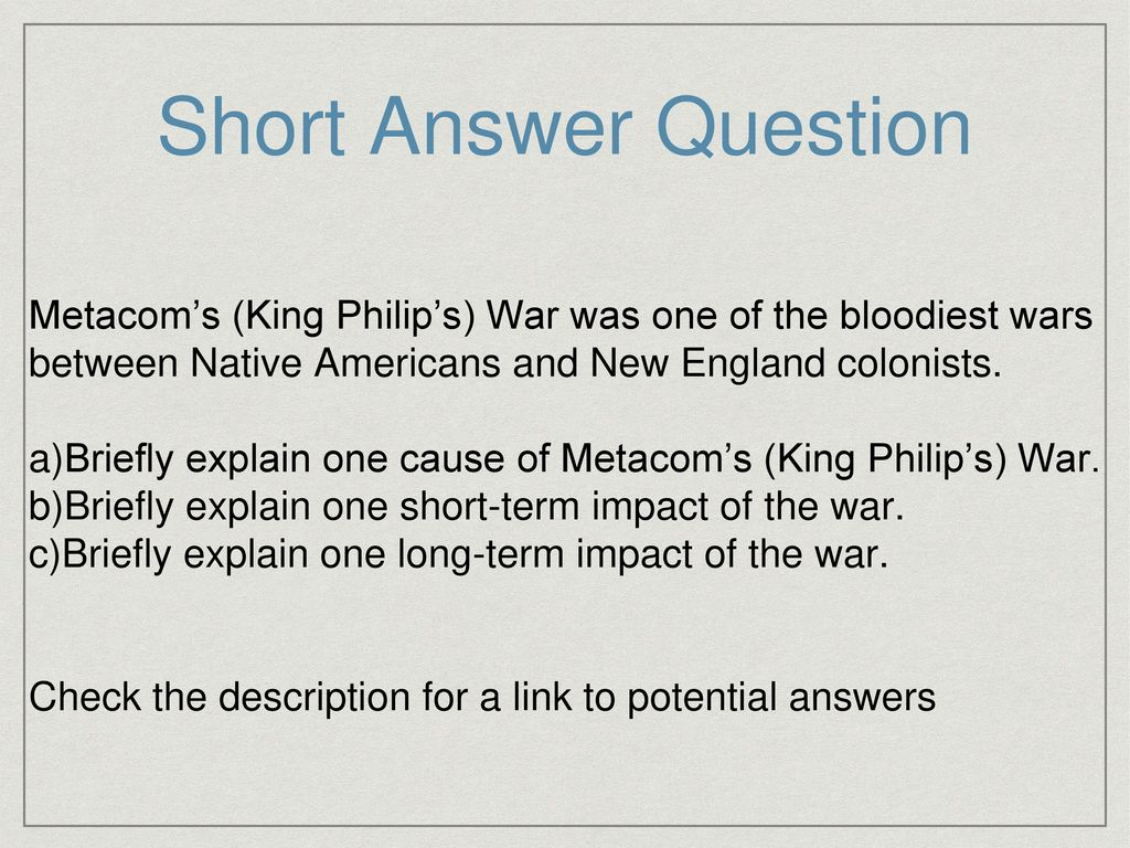 cause of king philips war