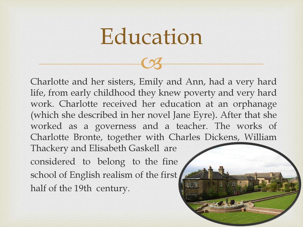 charlotte bronte education