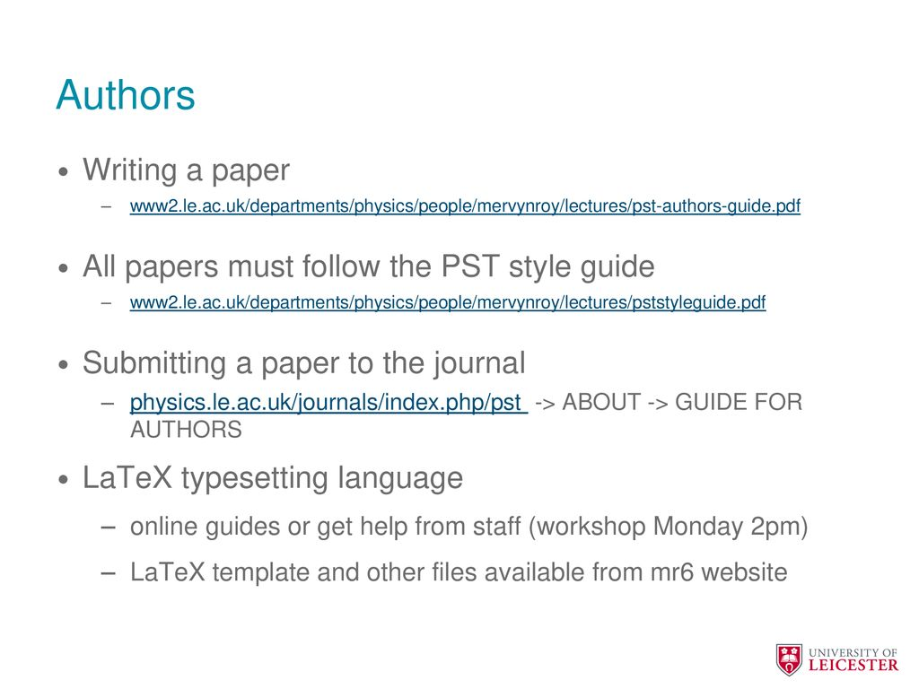Journal of Physics Special Topics - ppt download
