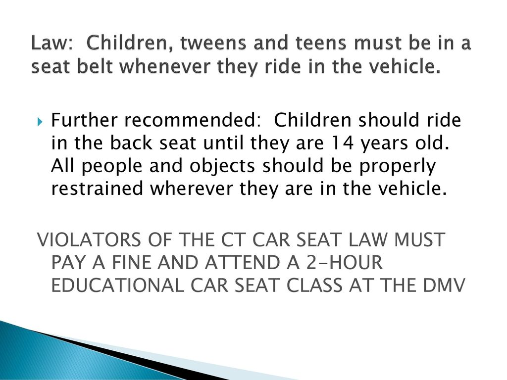 Car Seat Safety Transporting Children Safely Training Curriculum