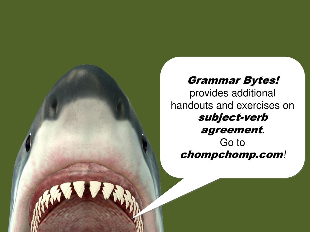 Chomp Chomp This Presentation Is Brought To You By Grammar Bytes