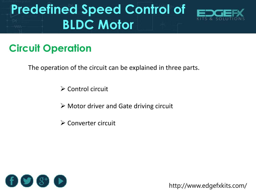 Predefined Speed Control Of Bldc Motor Ppt Download Circuit Using Arduino