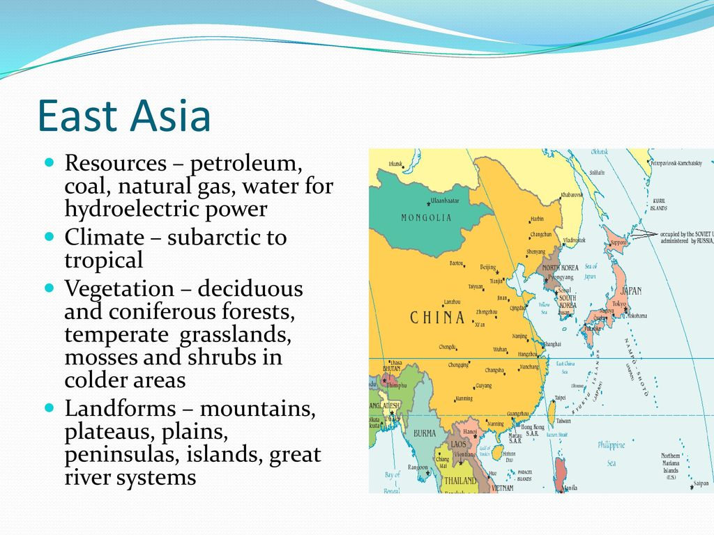 Map Of Asia Resources.Distribution Of Resources Climate Vegetation Landforms Ppt Download