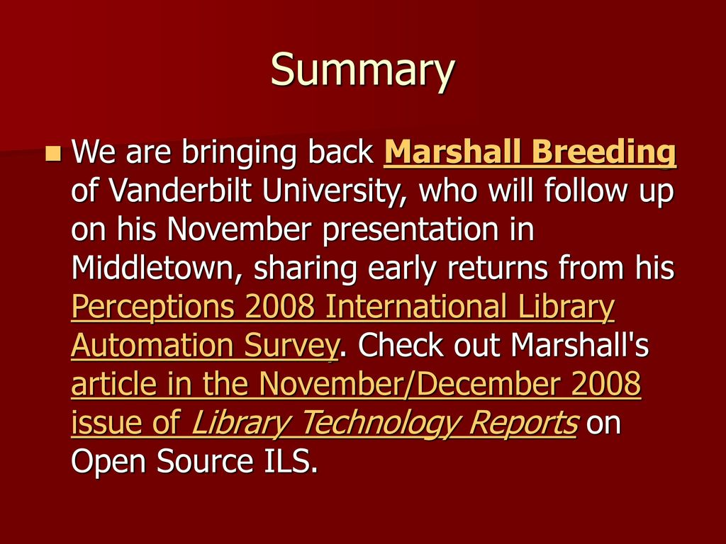 we are marshall summary