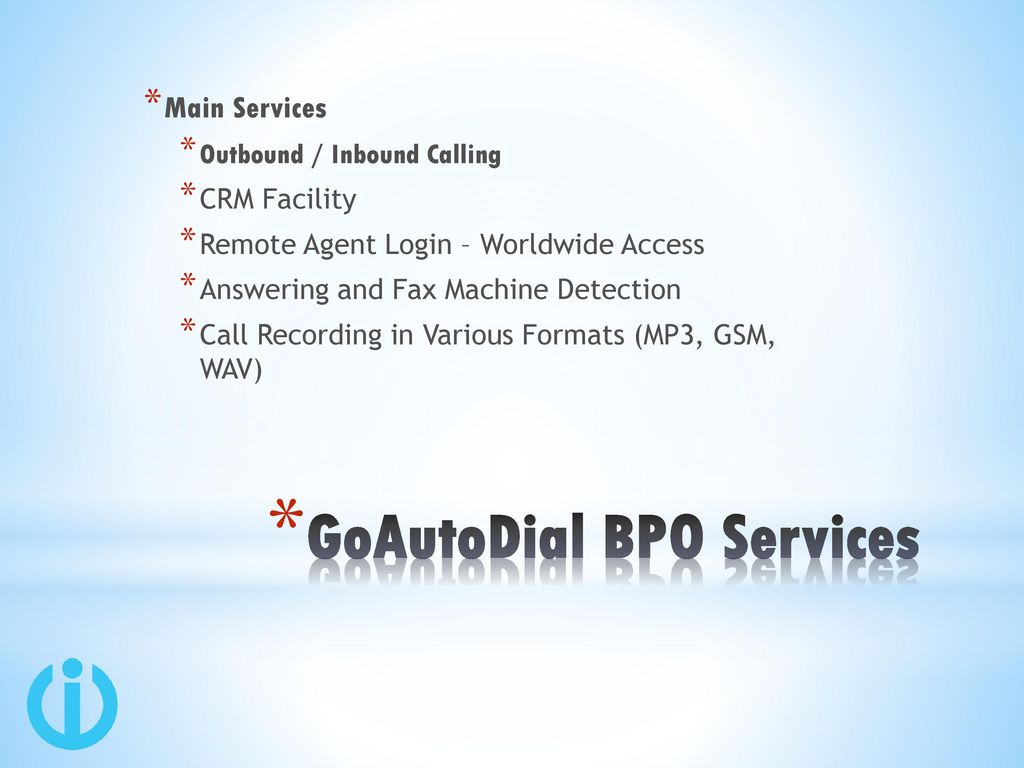 GoAutoDial /ViciDial by iTechN Services - ppt download