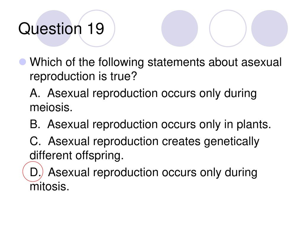 Asexual propagation hypothesis statement