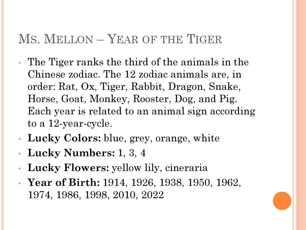 Ms Mellon Year Of The Tiger