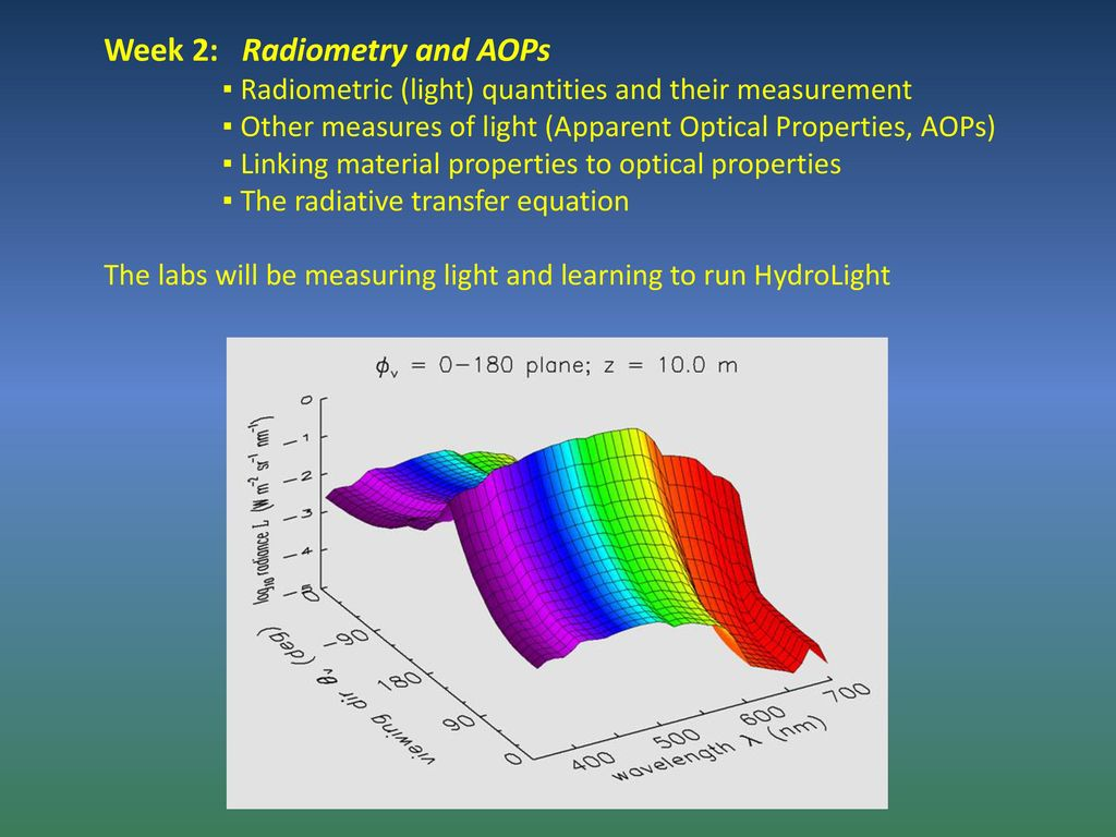 Optical Oceanography and Ocean Color Remote Sensing - ppt