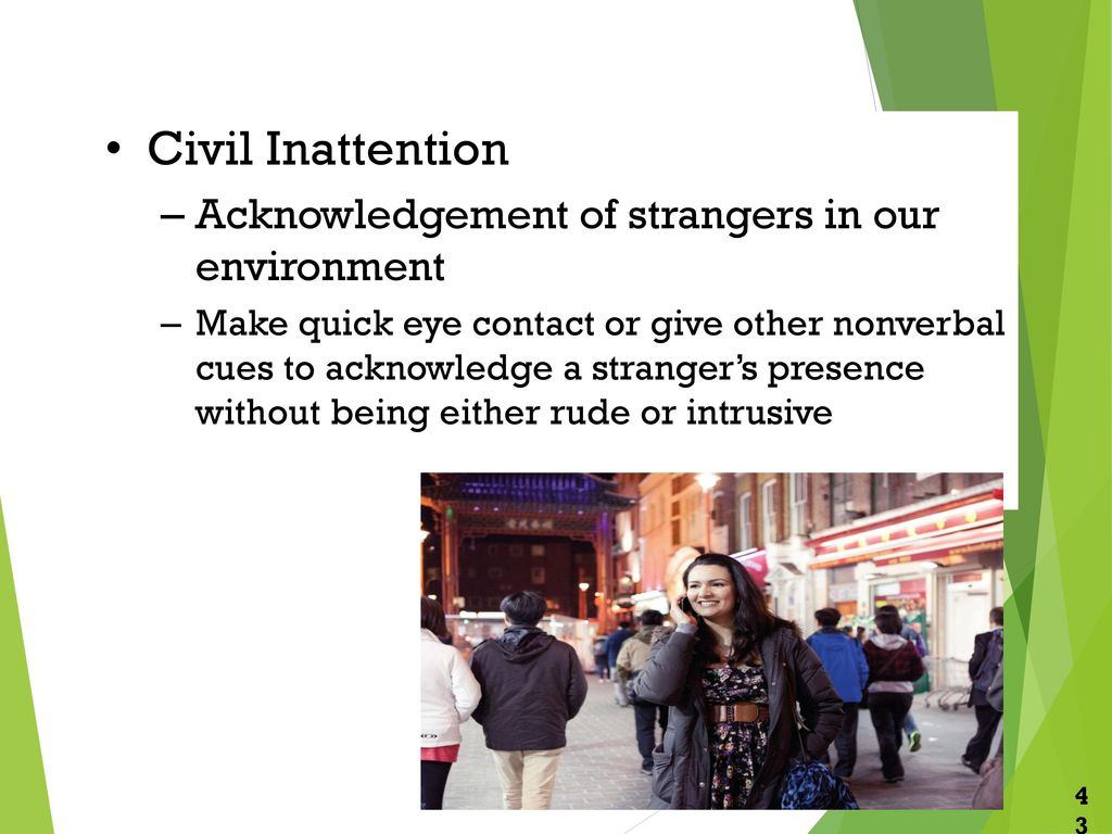 what is civil inattention