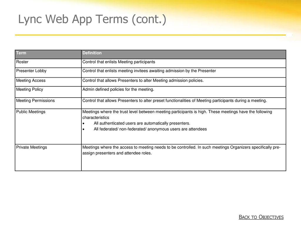 Microsoft® Lync™ 2010 Web App Training - ppt download