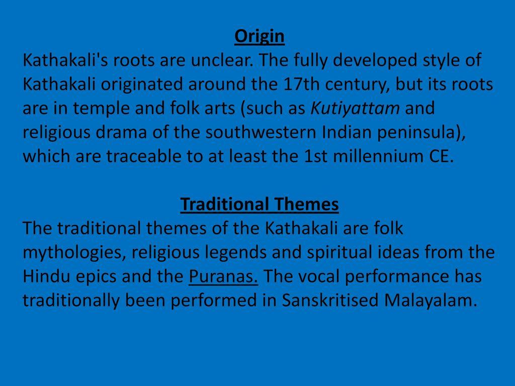 kathakali history