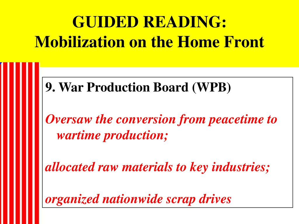 60 GUIDED READING: Mobilization ...