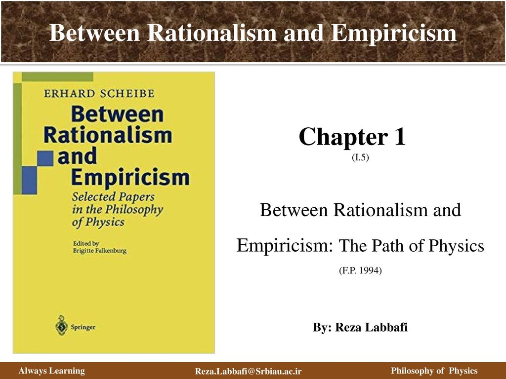 Empiricism and rationalism in the philosophy of modern times