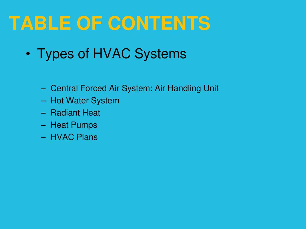 Heating Ventilating and Air Conditioning - ppt download